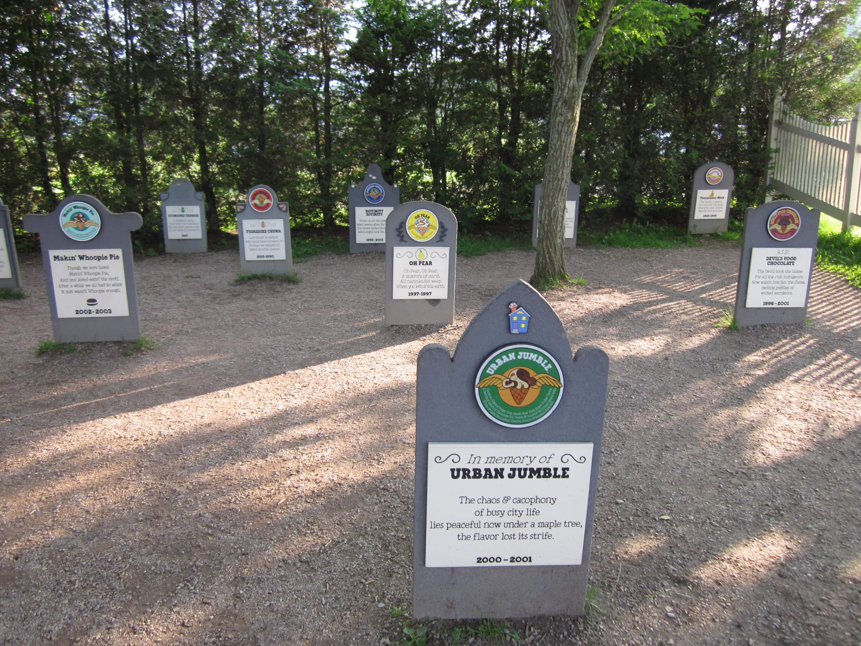 Ben and Jerry's Flavor Graveyard honors retired ice-cream flavors