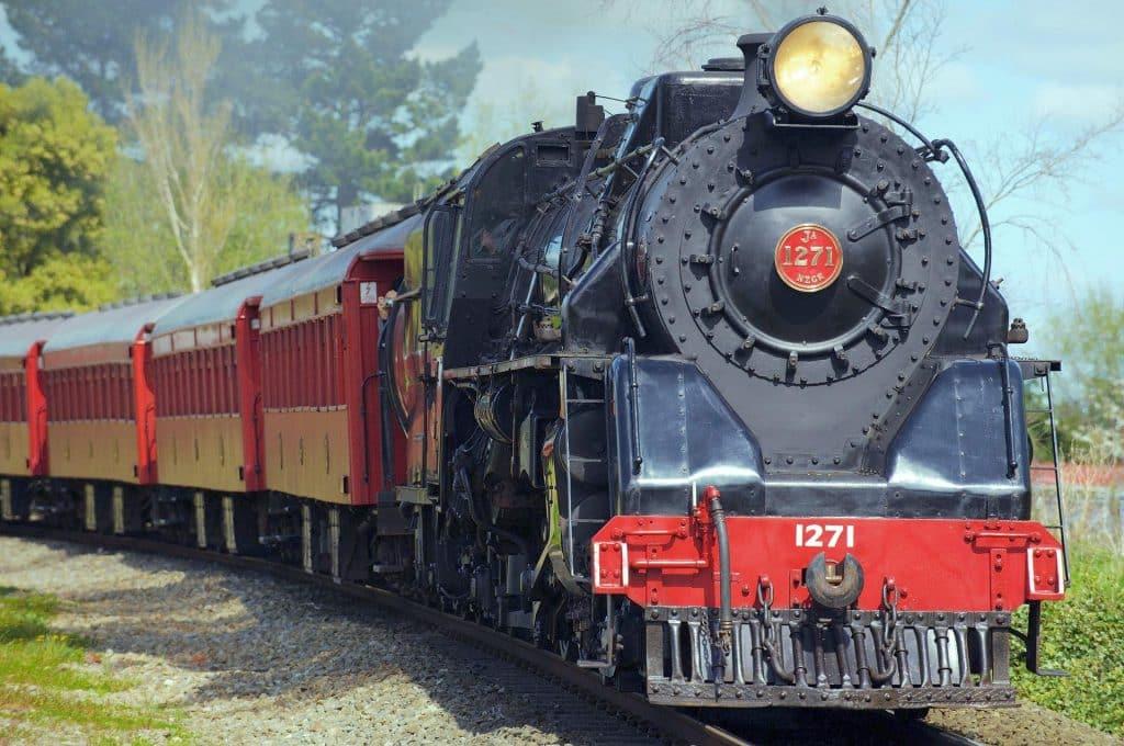 Steam Engine on the Rails