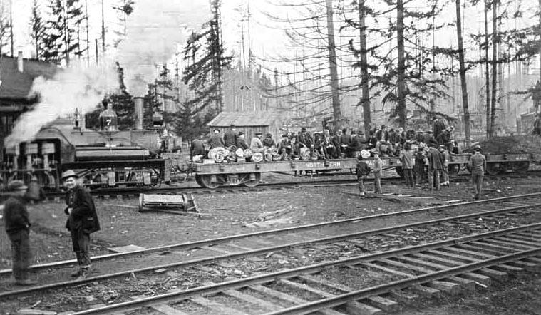 Logging Camp Along Chelatchie Prairie Railroad