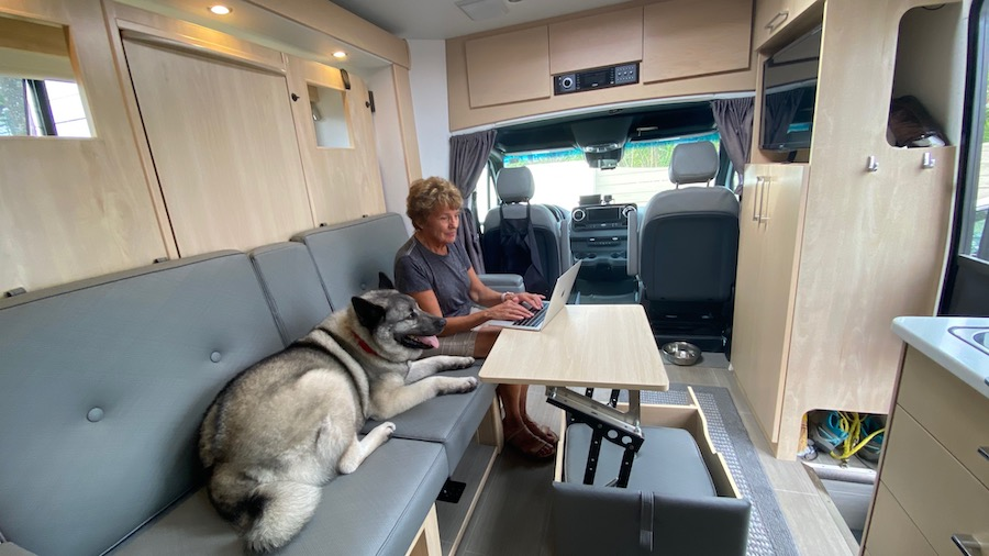 image about using the Internet in an RV