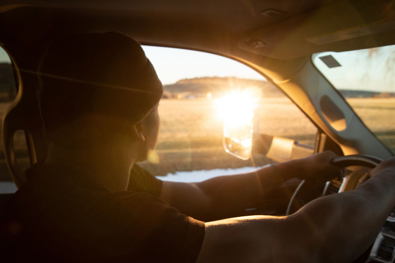 Phil Calvert driving RV