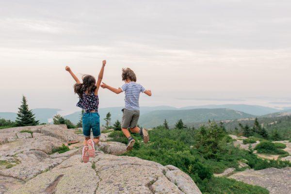 Kids in Acadia National Park