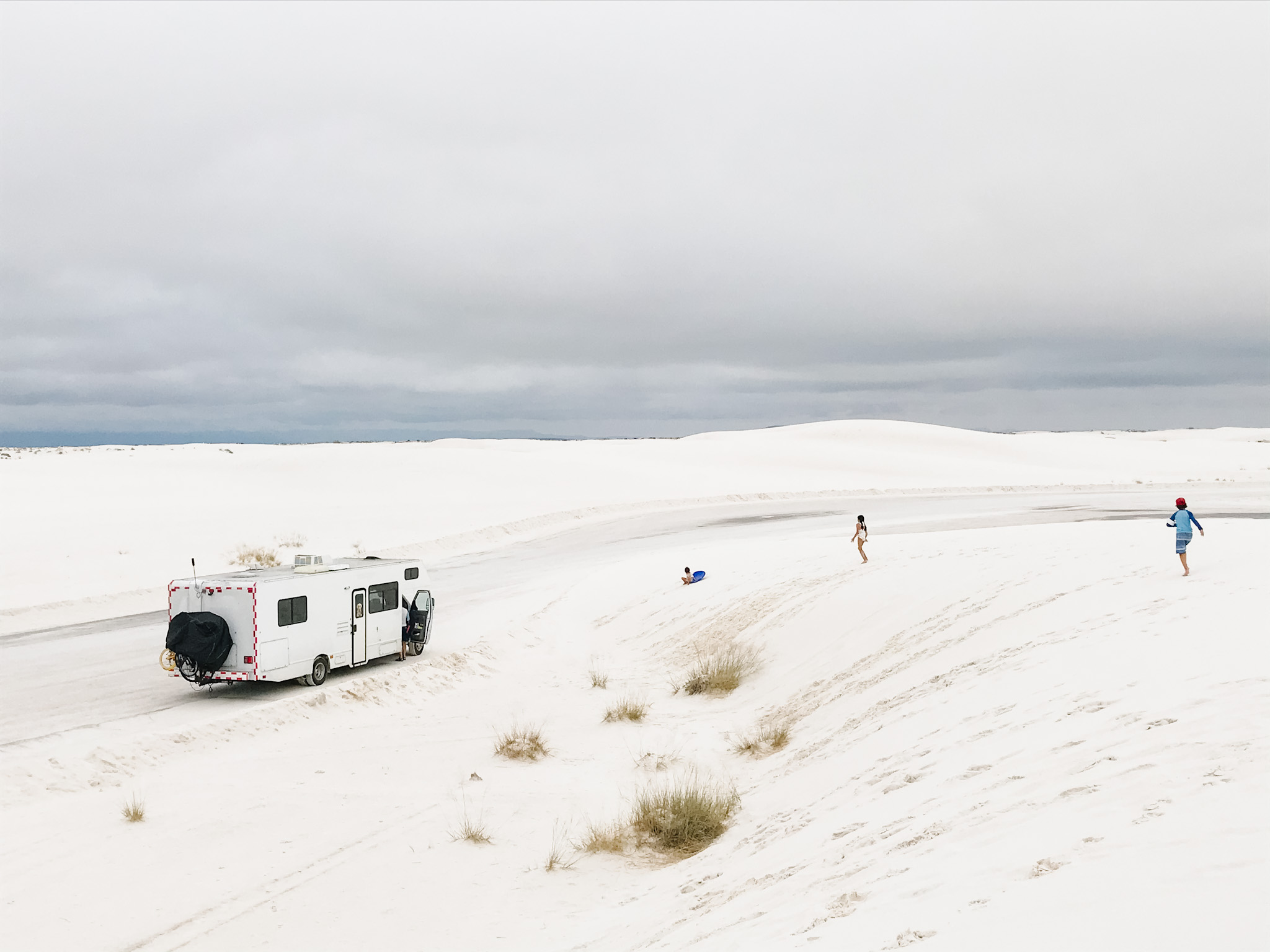 white sands with kids