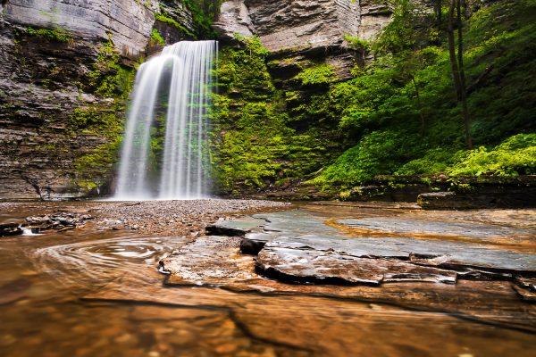 Eagle Cliff Falls, at Havana Glen Park in the Finger Lakes Region of New York State.