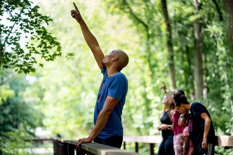 Demetrius takes family on a New York Hike