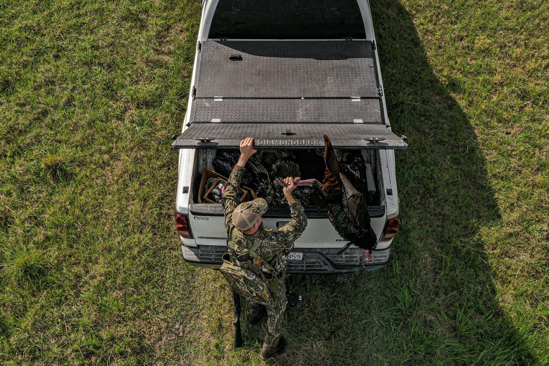 Hunting gear storage