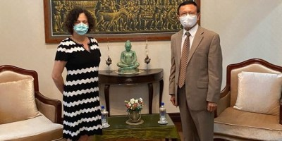 Kem Sokha met with EU Ambassador Ms Carmen Moreno on 11th-5-2020