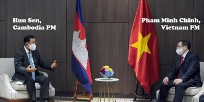 Photo: PM Hun Sen & New Vietnam PM Pham Minh Chinh / 24-4-2021