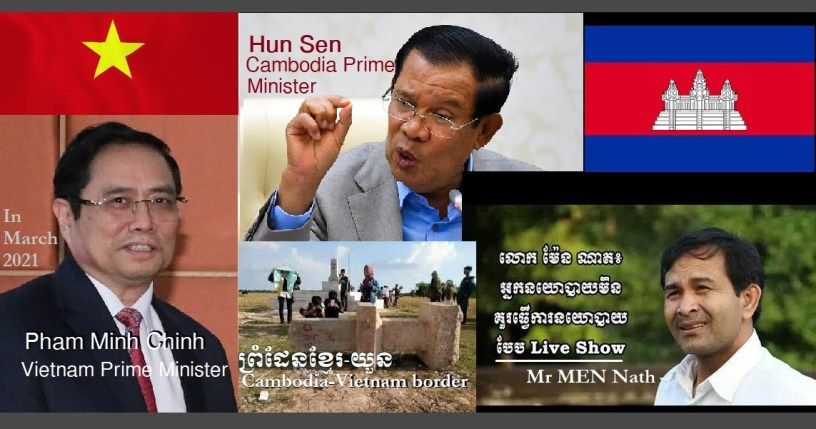 Photo: Mr Men Nath, PM Hun Sen & PM Pham Minh Chinh
