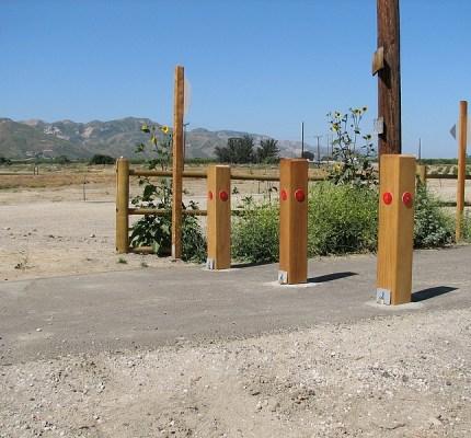 Removable Wood Bollard