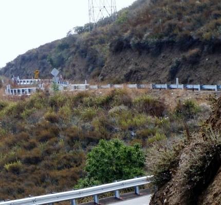 Rural Road steel post guardrail