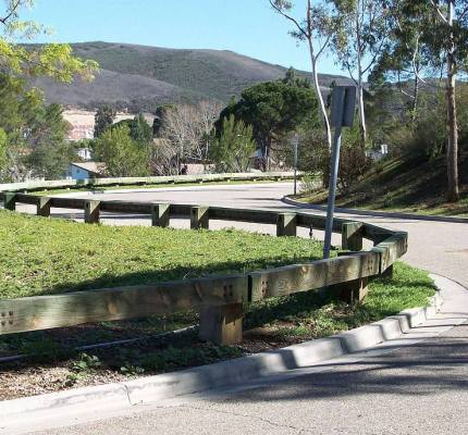 Steel Backed Timber Guardrail enhance safety and character of neighborhood