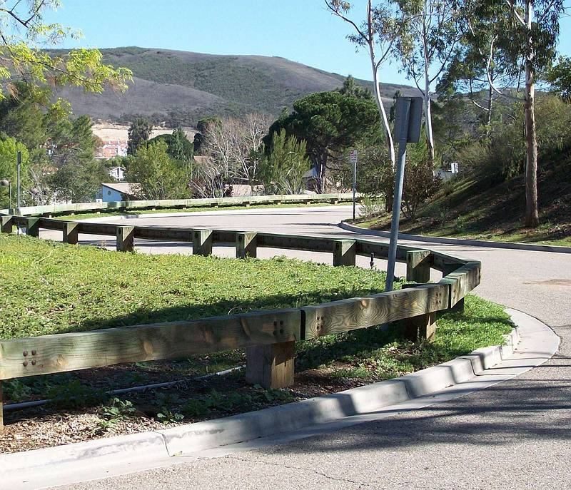 Steel Backed Timber Guardrail enhance safety and character of
