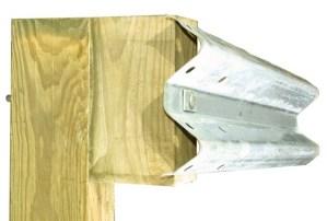 W-Beam Guardrail w/ 6' Wood Post & Block Assembly