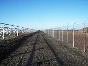 Solar Fence Installation