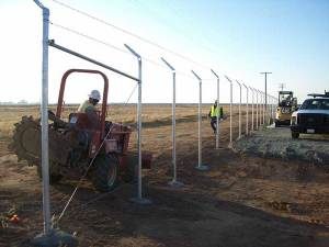 Solar Fence Installation