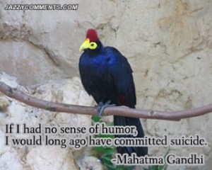Ghandi on humor