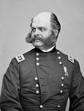 General Ambrose Burnside. Fought for the Union in the Civil War. His horse was called Old Bob