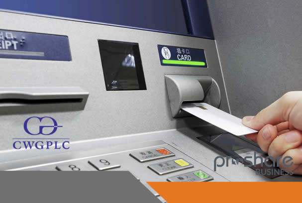 CWG Plc Signs ATM Deals With Three Banks