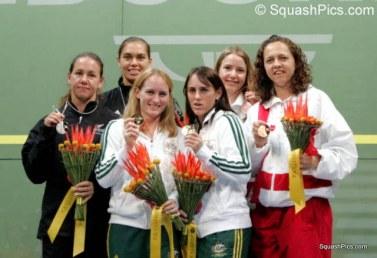 CGD09 Women's doubles medallists 06CG7565