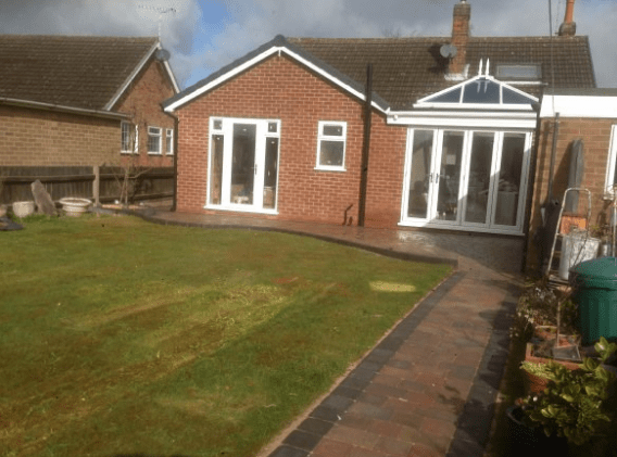 C Whyman Building Services Cannock - Extension, Orangerie and Landscaping