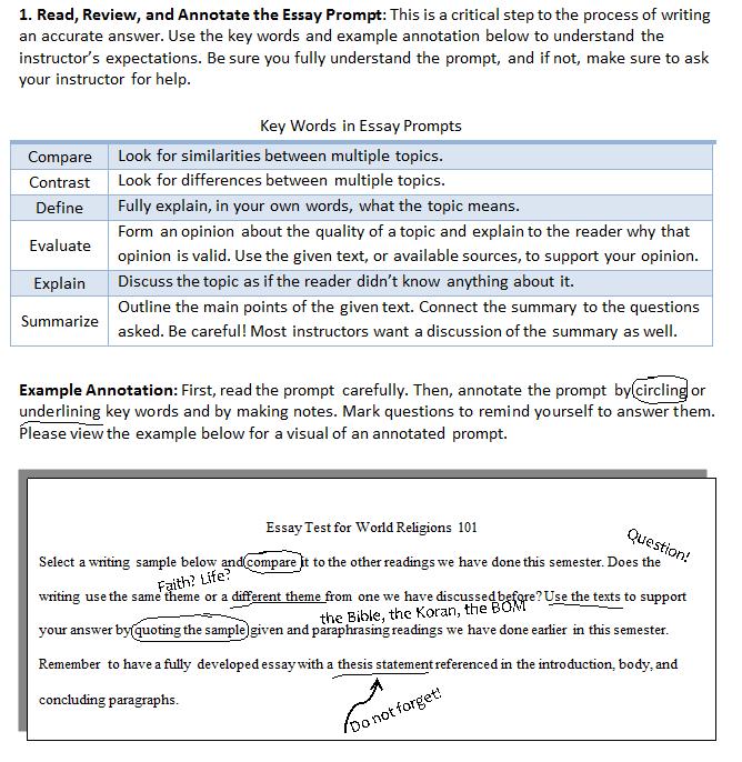 diagnostic essay prompts