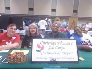 CWJC graduates at a health fair