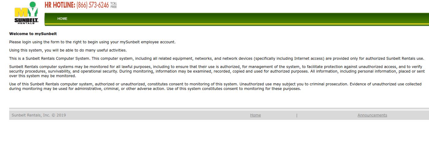 www MySunbelt com - Sunbelt Rentals Online Login Process