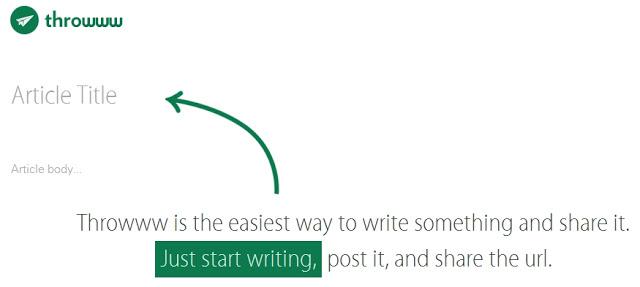 Throwww Blogging Platform