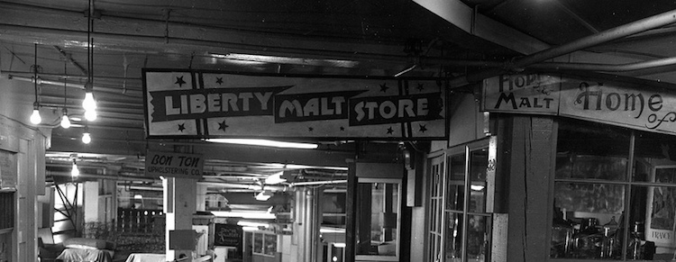 Pike Place Market lower level, 1968