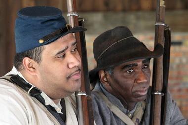 Black Civil War re-enactors join the Confederacy