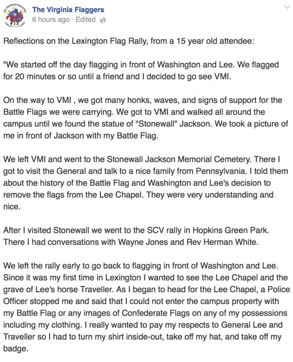 Virginia Flagers FB Post (07/27/14)