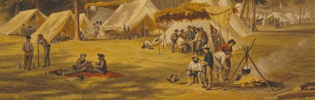 black confederate camp