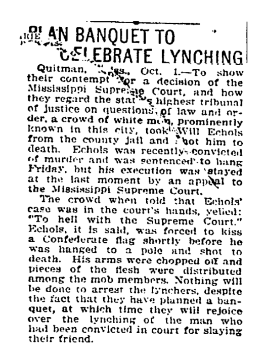 Will Echols Lynching