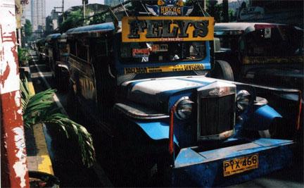 Jeepney on M.H. Pilar Street