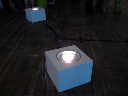 Custom lighting appliances for Mark Baugh-Sasaki's sculpture