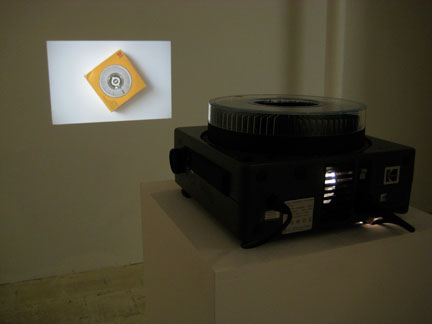 Slide show/installation by G. Leddington at Islington Mill