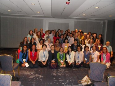 Group photo of attendees of the CWS reception.