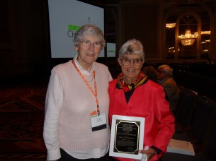 Alice S. Whittemore received the 2016 R. A. Fisher Lectureship pictured with Lynne