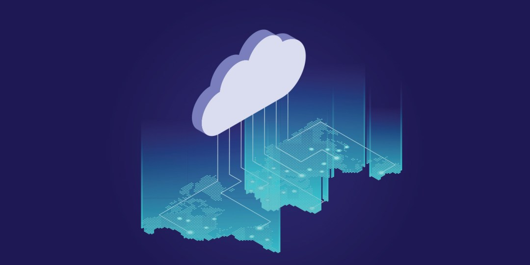 Isometric web banners for cloud computing services and technology, data storage