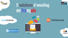 5 email marketing solutions / software in French