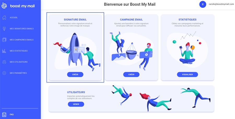create signature mail boost my mail
