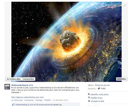 end of the world Creation sarl web marketing & Co'm