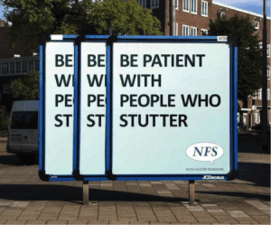 © Be patient with people who stutter, Y&R, Not Just Fim, 2011