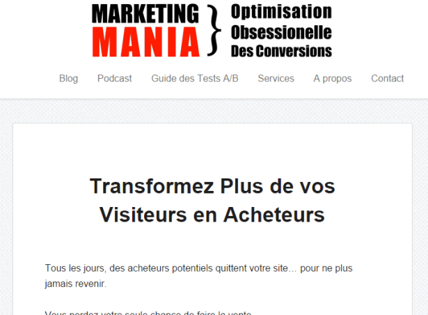 Improve your conversion rates with Marketing Mania