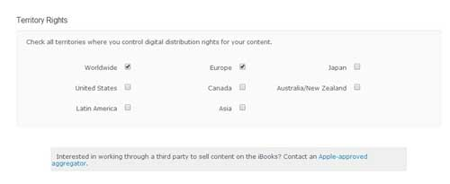 itunes connect distribution rights