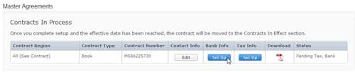 itunes connect contract bank details