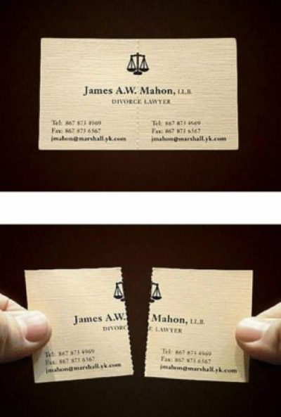 Lawyer specializing in divorces.