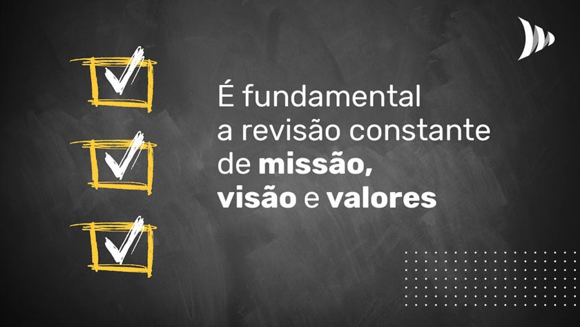 Review mission, vision and values
