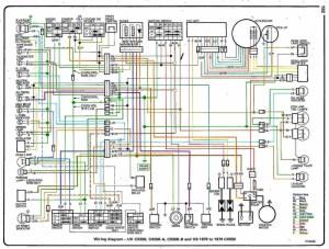 1979 Honda cx500D wiring diagram color